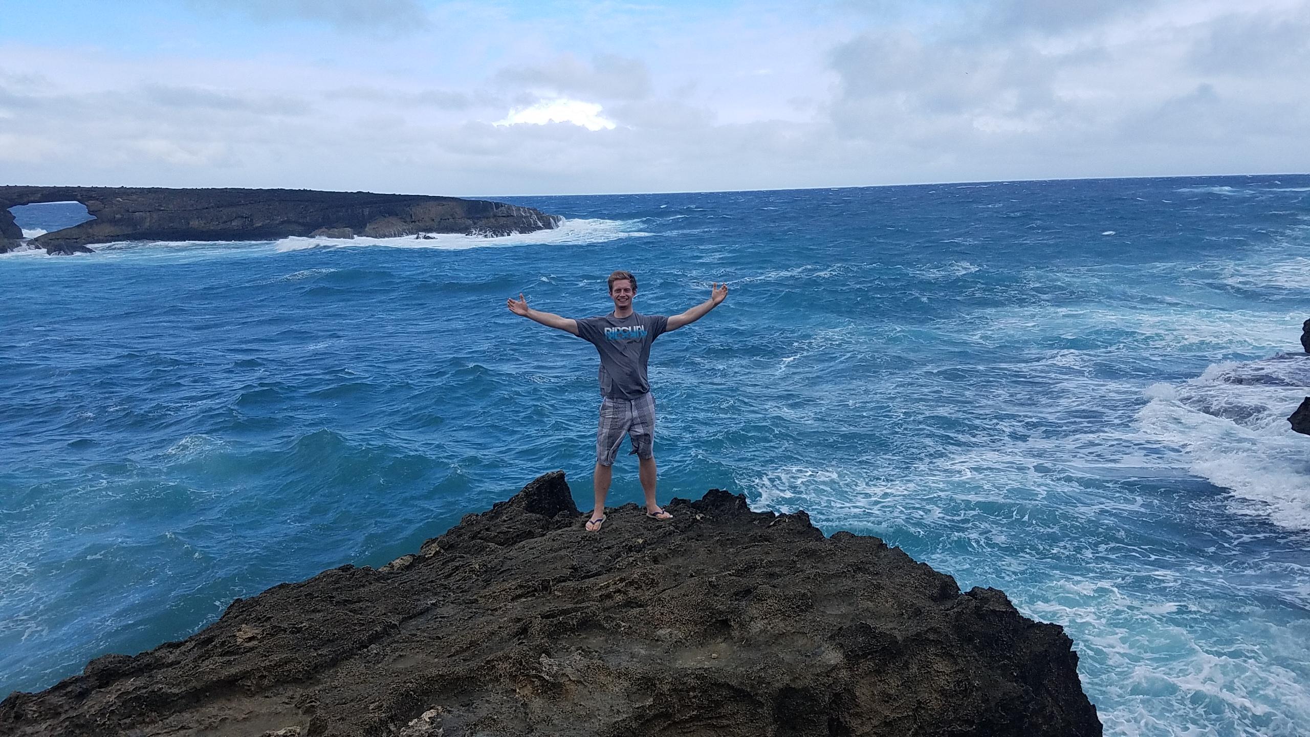 Jonathan Engle stands on the coast of Hawaii. (Jonathan Engle)