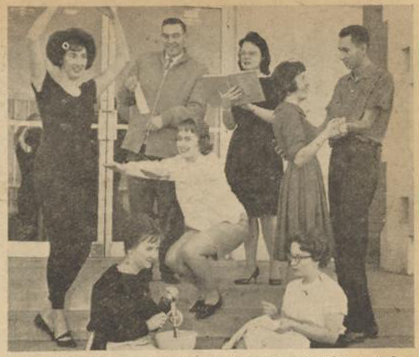 Y BELLE ACTIVITIES — Chairmen for judging activities are, from left, Joy Wilmoth, dancing; Sharon Thomas, cake; Bob Blattner, popularity; Shirleen Hendrix, sports; Mary Jo Allemen, culture; Sherry Louder and Lloyd Bush, dancing, and Joyce Tanner, crafts. (Susie Blakemore)