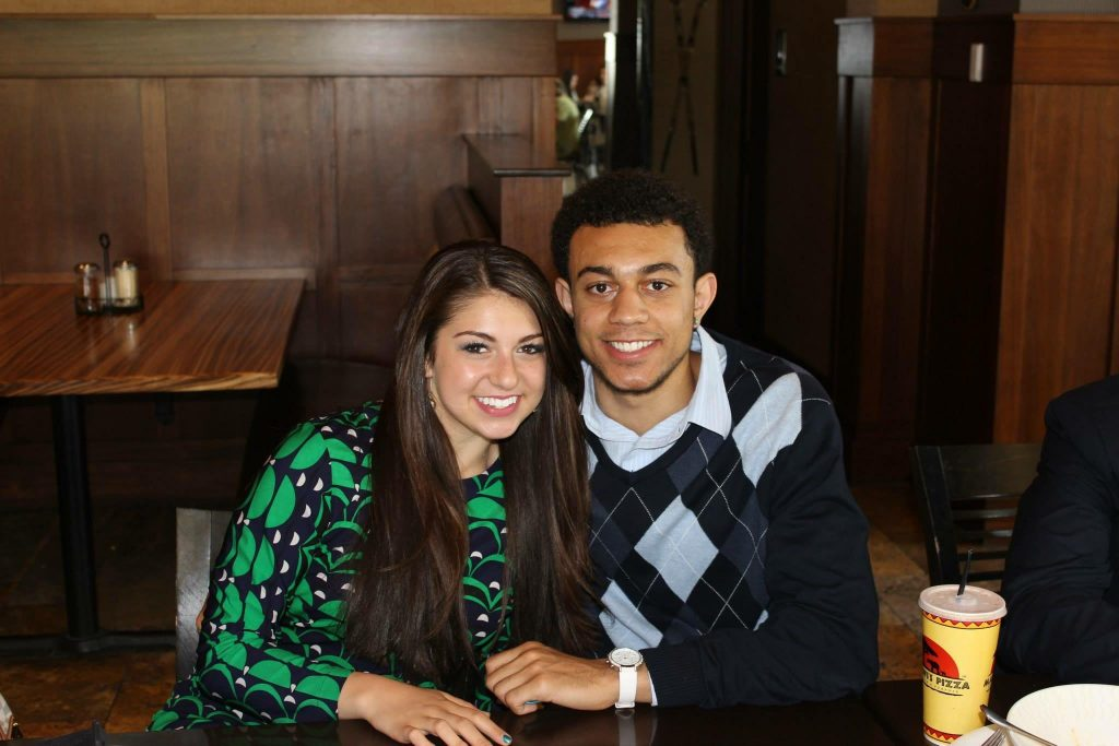 BYU Cougarette Alexis Williams with her cousing Nigel Williams-Goss. Williams-Goss is Gonzaga's starting point guard. (Alexis Williams)
