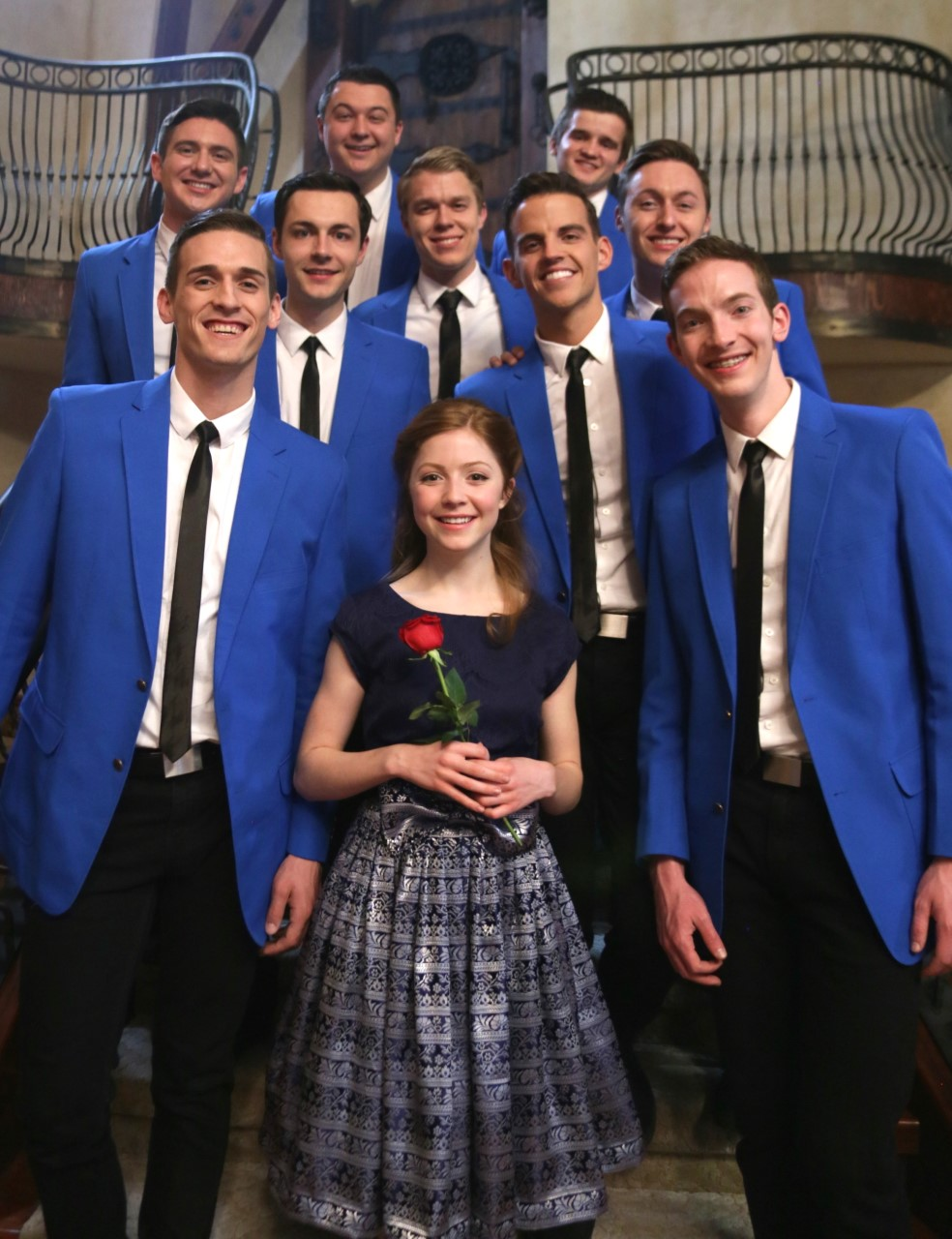 "Byu's Vocal Point Releases A New €�beauty And The Beast"" A Capella Medley  Music Video, Featuring Lexi Walker (front) (mckay Crockett)"