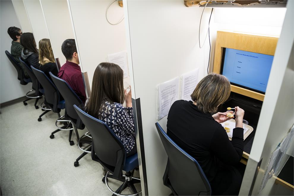 Panelists Sit In The Seven Computerized Panel Booths Located BYU Food Science Sensory Lab Sample Products And Rate Them According To Smell