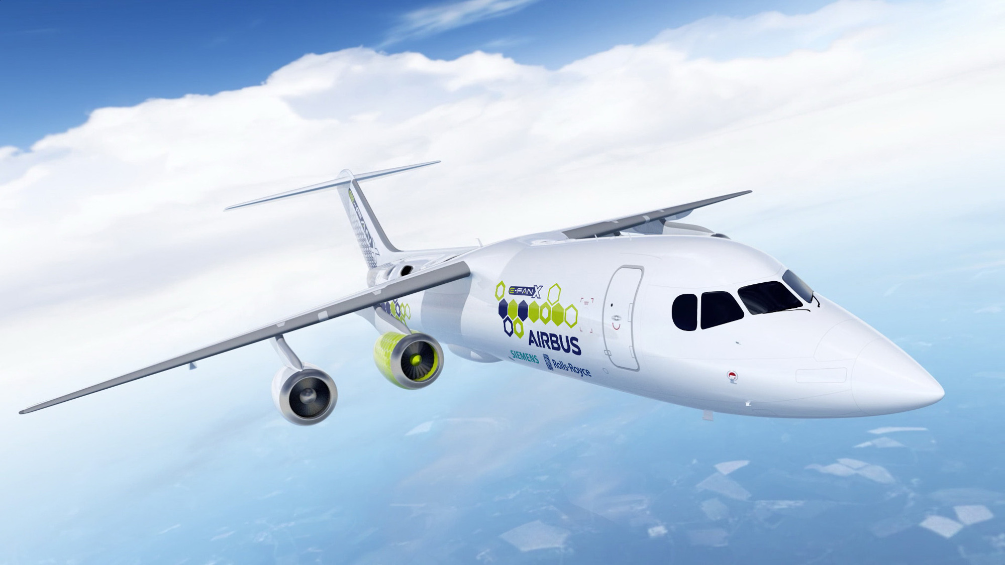 Airbus, Rolls-Royce and Siemens working on electric-hybrid plane