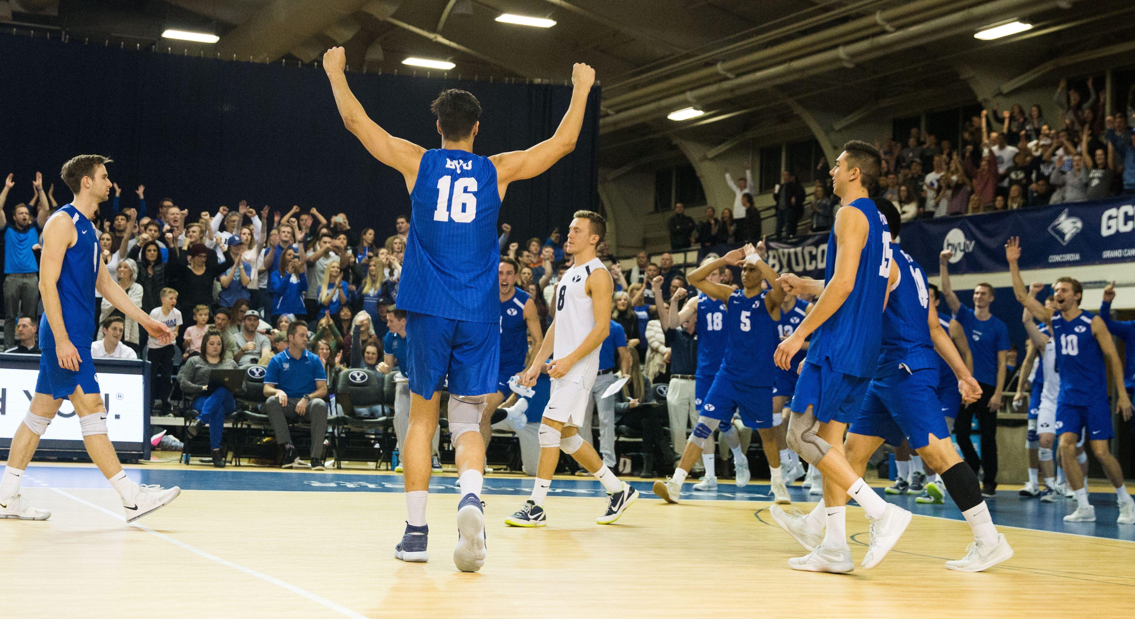 BYU men's volleyball wins thirteenth-straight over USC