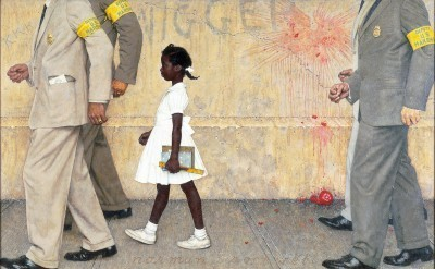 Norman Rockwell (1894-1978), The Problem We All Live With, 1963, oil on canvas, 36 x 58 inches. Norman Rockwell Museum Collections. American Chronicles: The Art of Norman Rockwell has been organized by the Norman Rockwell Museum in Stockbridge, Massachusetts.