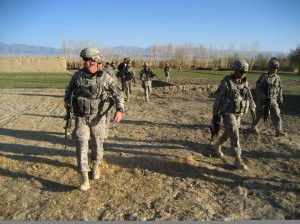 Col. David B. Haight on patrol in Afghanistan with his unit in November. (Photo courtesy Col. Haight)
