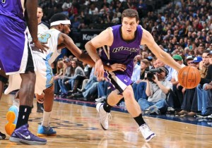 Jimmer Fredette is playing for the Sacramento Kings of the NBA.