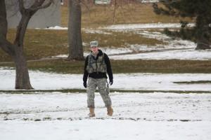 Anna Savage excels in BYU's Army ROTC program. Photo courtesy of BYU Army ROTC.