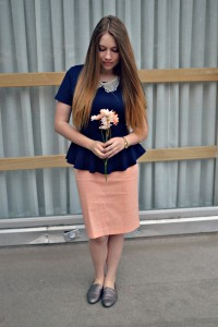 Lena poses in one of the sister missionary outfits she has come up with. (Photo Credit: The Lady Lena)