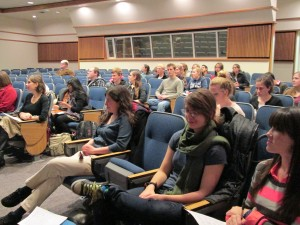 A gathering of the Women in Computer Science club. Photo courtesy Women in Computer Science.