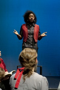 """BYU thespians perform in the Mask Club production called """"Women of Faith."""" (Courtesy Andy Foree)"""