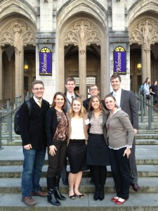 The Model European Union team represented BYU at a recent conference and won several awards. Courtesy photo.