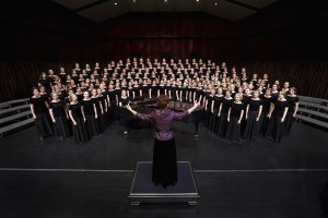 The BYU Women's Chorus (above) will be singing in general conference this weekend (photo by Devin Anderton)