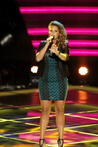 Former Noteworthy singer, Amy Whitcomb, joined Team Adam on a recent episode of 'The Voice.' (Courtesy NBC)