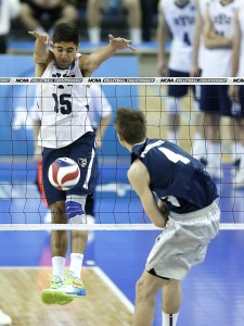 BYU competes against Penn State in the Semi-Final Match of the NCAA Men's Volleyball Championships hosted by UCLA at Pauley Pavillion in Westwood, CA.