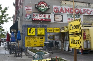 Rocco's Tacos its surroundings. (Photo by Brett Steele)