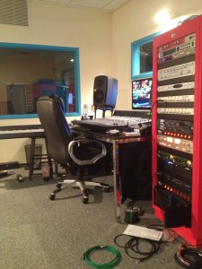 Coffin uses this mixing studio to mix masters for his clients. (Photo by Brittany Hendrickson)