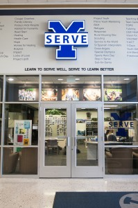 Students can come to the Y-Serve office to find opportunities to serve, including the new program Senior Academy. (Photo by Sarah Strobel Hill)