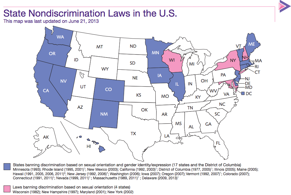 Sexual orientation discrimination laws by state