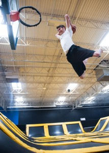 Logan Ward is one of my BYU students and Utah residents that enjoy outings to jump gyms. (Photo by Chris Bunker)