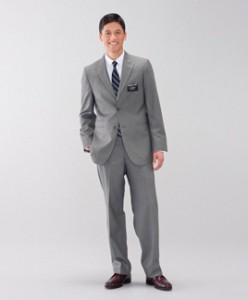 LDS missionaries may now wear light-colored grey and brown suits. They will also no longer be required to wear suit coats during regular activities. (Photo courtesy missionary.lds.org)