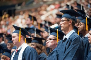 The graduates at the Summer Commencement. (Photo by Chris Bunker)