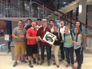 BYU students used Lunch Box to get free pizza in the HFAC. (Photo courtesy of Chase Roberts and David Hepworth.)