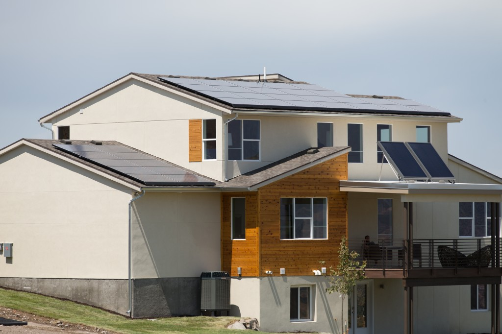The Zero Home is located in Herriman, Utah and produces more energy than it consumes. Photo by Vivint.