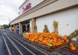Smith's is stocked up for the pumpkin season as the vegetable makes it's way into a variety of recipes. (Photo by Sarah Hill.)