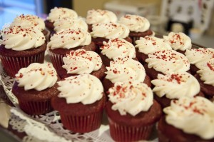 Red Velvet flavored cupcakes are just one of the many delicious dessert options available the The Chocolate on State Street in Orem.