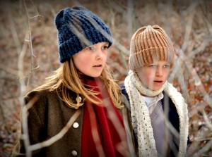 Ruthie and Norman, characters from 'Christmas for a Dollar', are seen here, played by Ruby Jones and Jacob Buster (Courtesy Covenant Communications)