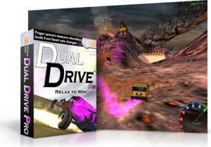 """Dual Drive"" is a racing game that helps players learn to control their breathing while doing other things. (Photo courtesy of Counseling and Psychological Services)"