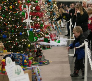 Families all around Utah attend the Festival of Trees to see the 800 decorated Christmas trees, do some shopping and support a good cause. (Photo courtesy of Festival of Trees.)