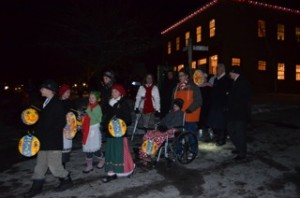 Children perform in the light parade to celebrate the season of giving. (Photo courtesy Allyson Chard)