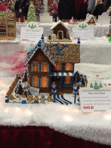 Festival of Trees gingerbread house inspired by BYU. Photo by Caroline Smith.