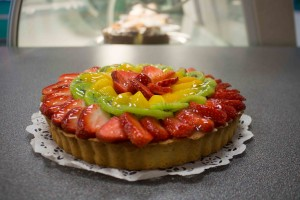 "Eliane French Bakery sells a variety of French pastries. This ""Tarte aux fruits"" represents the higher end of what Eliane has to offer. (Photo by Ari Davis.)"