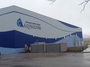 After almost a year and a half of construction, Draper's new Loveland Living Planet Aquarium is nearly complete. The multilevel building will house hundreds of animal species from around the world and is scheduled to open late February/early March.(Photo by Hailey Gengler.)