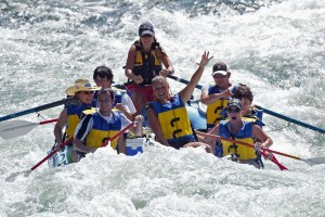 Rafting Payette River in Idaho.