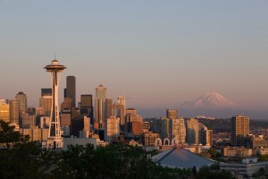 Seattle's distinct skyline is a hallmark of Washington, one of the best states for young people.