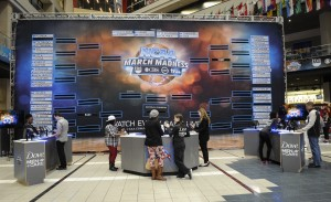 Fans make their selections at National Bracket Day in Atlanta, March 17. AP photo