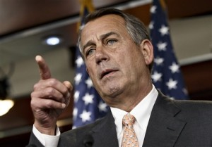 """The National Republican Congressional Committee has issued a fundraising pitch on its website asking people to become a """"Benghazi Watchdog"""" by donating money to GOP election efforts. Boehner has said that the examination would be """"all about getting to the truth"""" of the Obama administration's response to the attack and would not be a partisan, election-year circus. (AP Photo/J. Scott Applewhite)"""