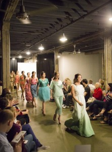 BYU student and designer Bree Wilkins' collection was featured at the April Provo Fashion Week. (Michael Bunn)