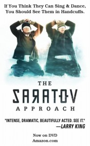 "The proposed ad for ""The Saratov Approach"" that was denied space in the playbill for ""The Book of Mormon"" musical. Photo courtesy Cedar Fort Publishing."