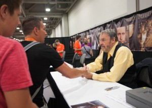 John Rhys-Davies signs autographs and meets with fans at FantasyCon. FantasyCon is a 3-day festival that debuted in Salt Lake City on July 2nd.