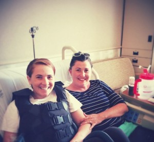 Mindy Catmull and her Mom Claire Shaw during a hospital visit. Shaw has been there for Catmull through the thick and thin.