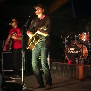 """Eric Paslay performing his number one, chart topping single """"Friday Night"""" at the Outlaw Saloon in Ogden, Utah. (Annmarie Moore)"""