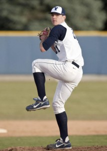 Marc Oslund pitches in a game during the 2009 baseball season. (photo courtesy Marc Oslund)