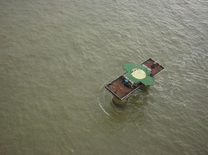The Principality of Sealand lies six miles off the eastern coast of England. (Screenshot)