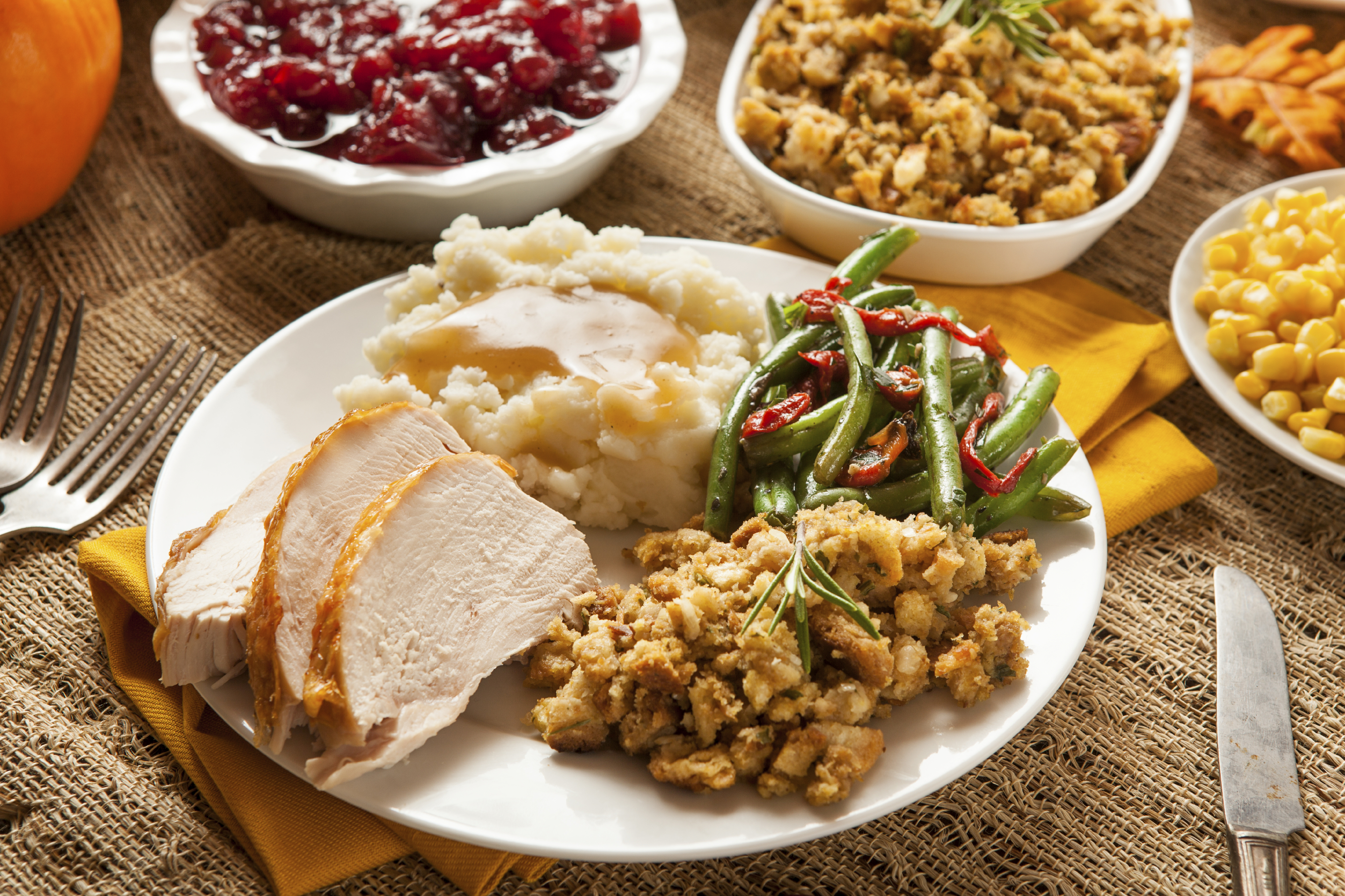 The traditional dishes of Thanksgiving feature their own myths about sleep-inducing turkey and nutrition. (iStock) & Whatu0027s really on your plate at Thanksgiving - The Daily Universe