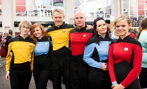 Comic Con attendees dressed up in all manner of costumes to come together to attend workshops, take pictures, and see what vendors had to offer.