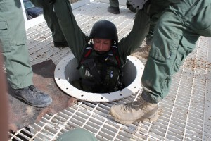 Officer Nisha Henderson trains for the Utah Valley METRO SWAT team. Henderson is the first woman to ever join this team. (Courtesy Lt. Brandon Post)